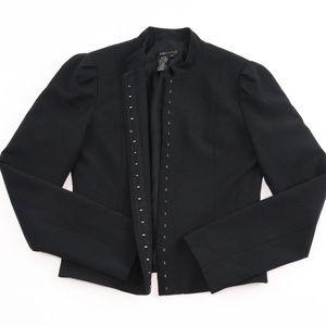 BCBGMaxAzria Black Hook Eye Jacket